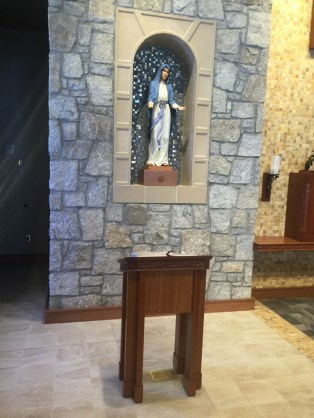 Alcove and lectern