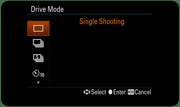 Sony-SingleDriveMode