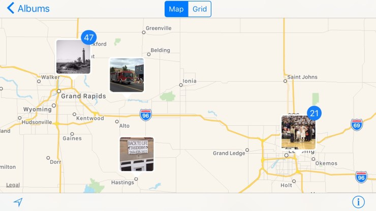 iOS 10 Photo Map