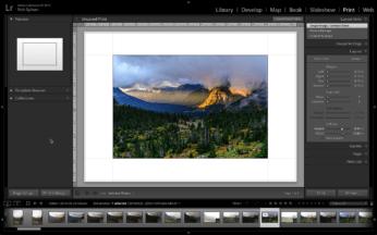 Printing a single image.