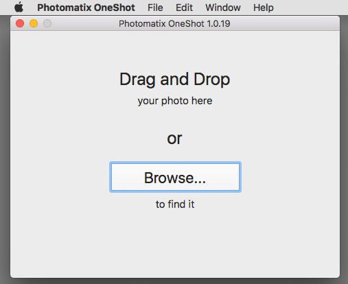 Photomatix One Shot Open File Dialog