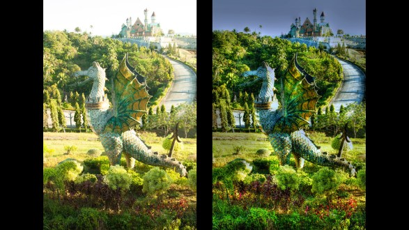 Photomatix OneShot original and OneShot