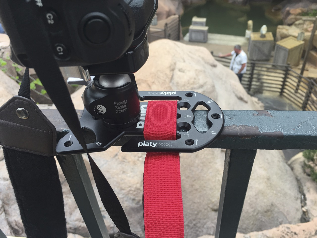 Easily attach to railings or poles