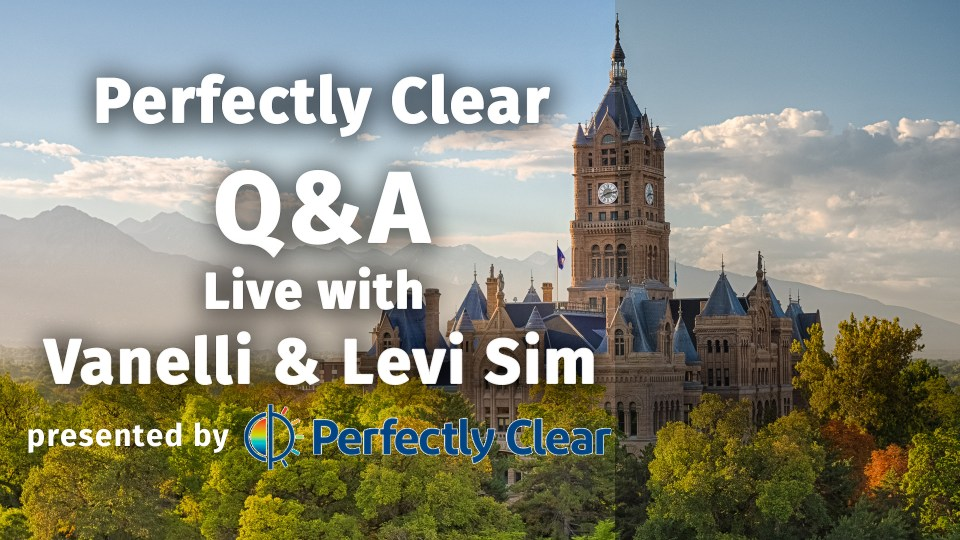 Live Webinar: Perfectly Clear Q&A with Vanelli and Levi Sim