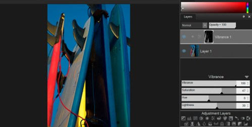 Use adjustment layers to easily manipulate targeted areas