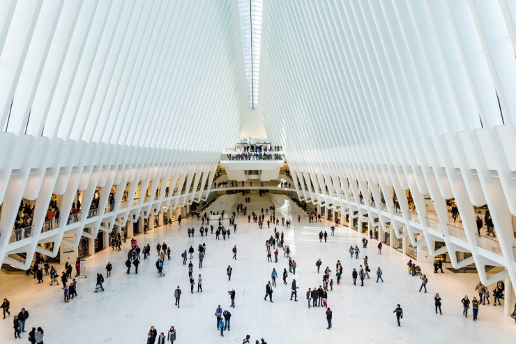 The Oculus is the new train station replacing the one that was under the original Twin Towers