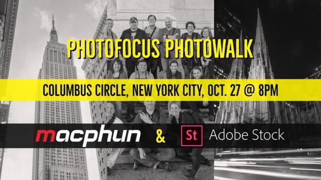 NYC Photowalk With Photofocus, Macphun, & Adobe Stock TODAY @8pm