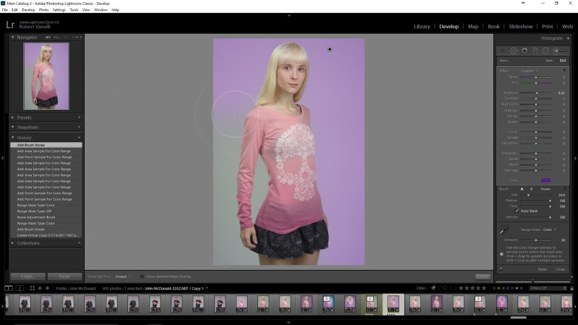 Quickly make a selection with Lightroom's Auto Mask
