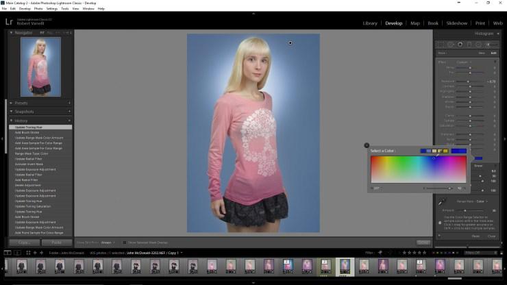 Change the color of Lightroom's Adjustment Brush