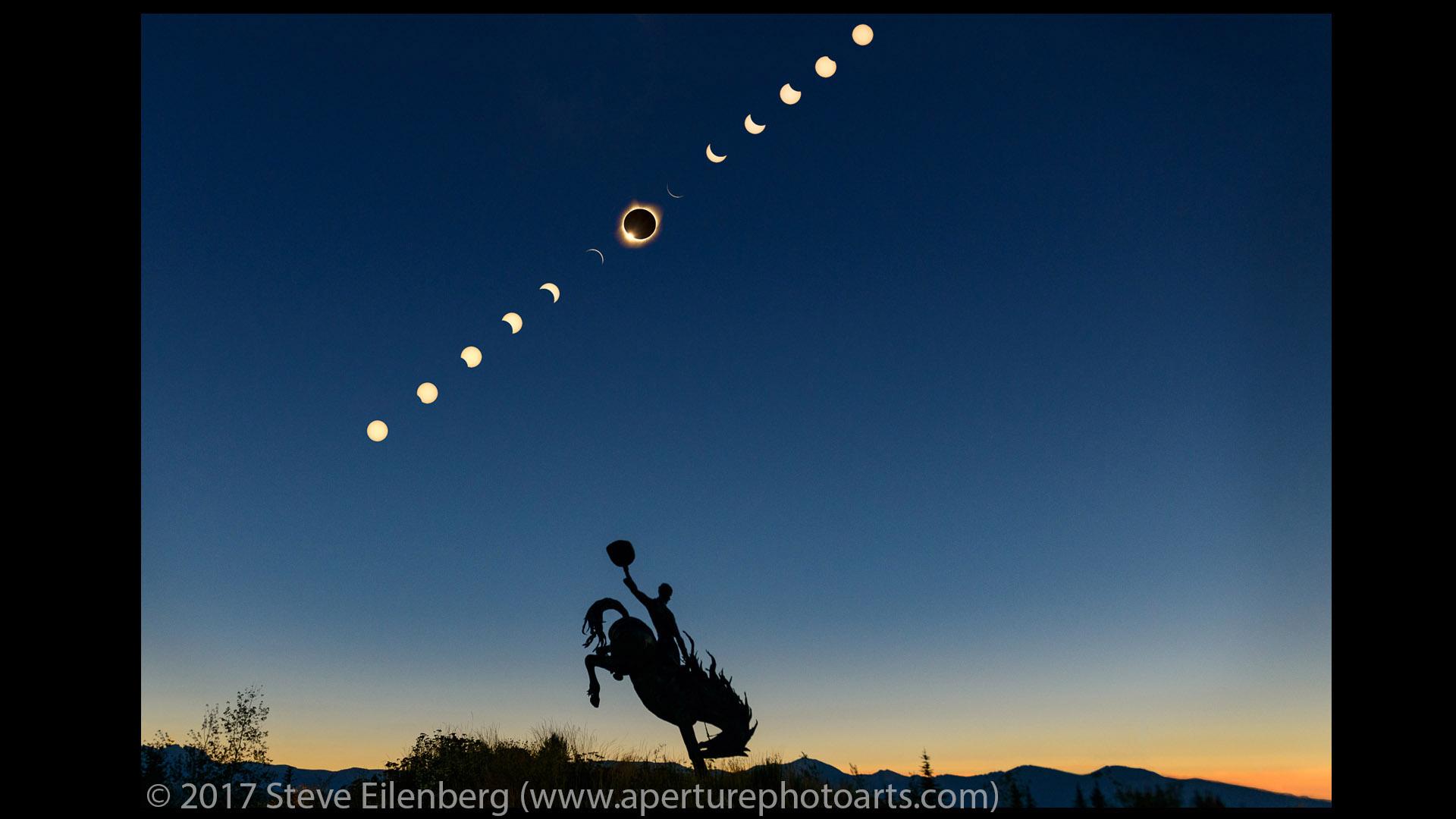 Jackson Hole Total Solar Eclipse composite 2017 © Aperture Photo Arts