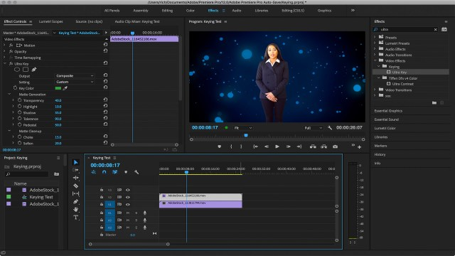 How to key greenscreen video in Adobe Premiere Pro