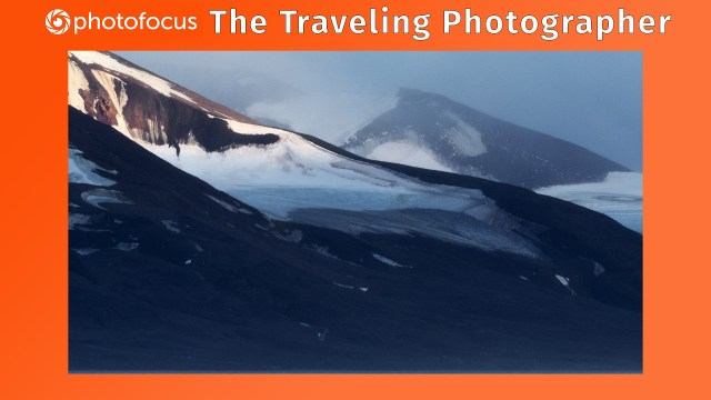 Snowy mountain scenery in Svalbard, north of Norway in Arctic Circle