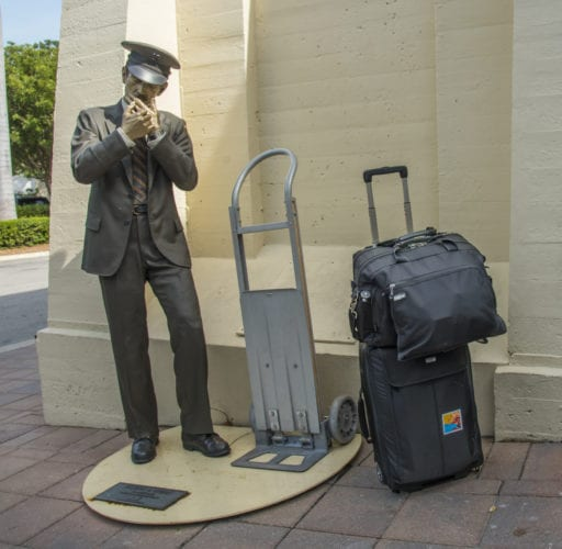 """Taking a Break"" by Seward Johnson with a ThinkTankPhoto Airporter"