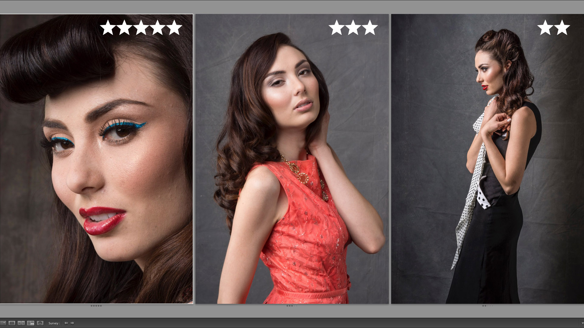 Star ratings in Lightroom CC Classic Survey Mode