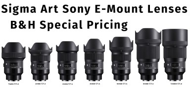 Sigma Goes Big with Seven E-Mount ART Lenses for Sony Mirrorless Cameras