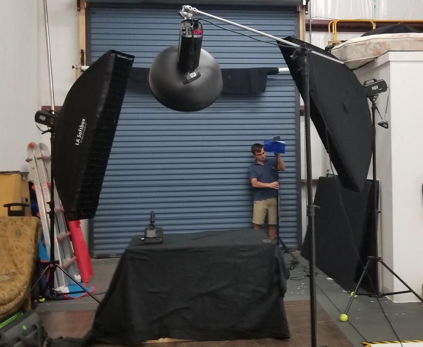 Dramatic lighting setup