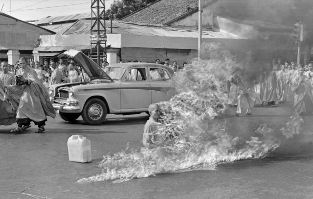 Malcolm Browne photographed monk Thich Quang Duc as he burned himself to death.