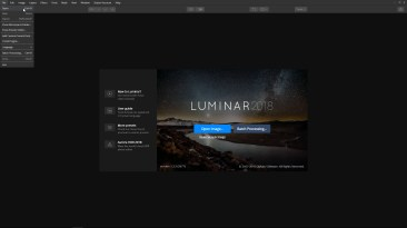 Open an image in Luminar