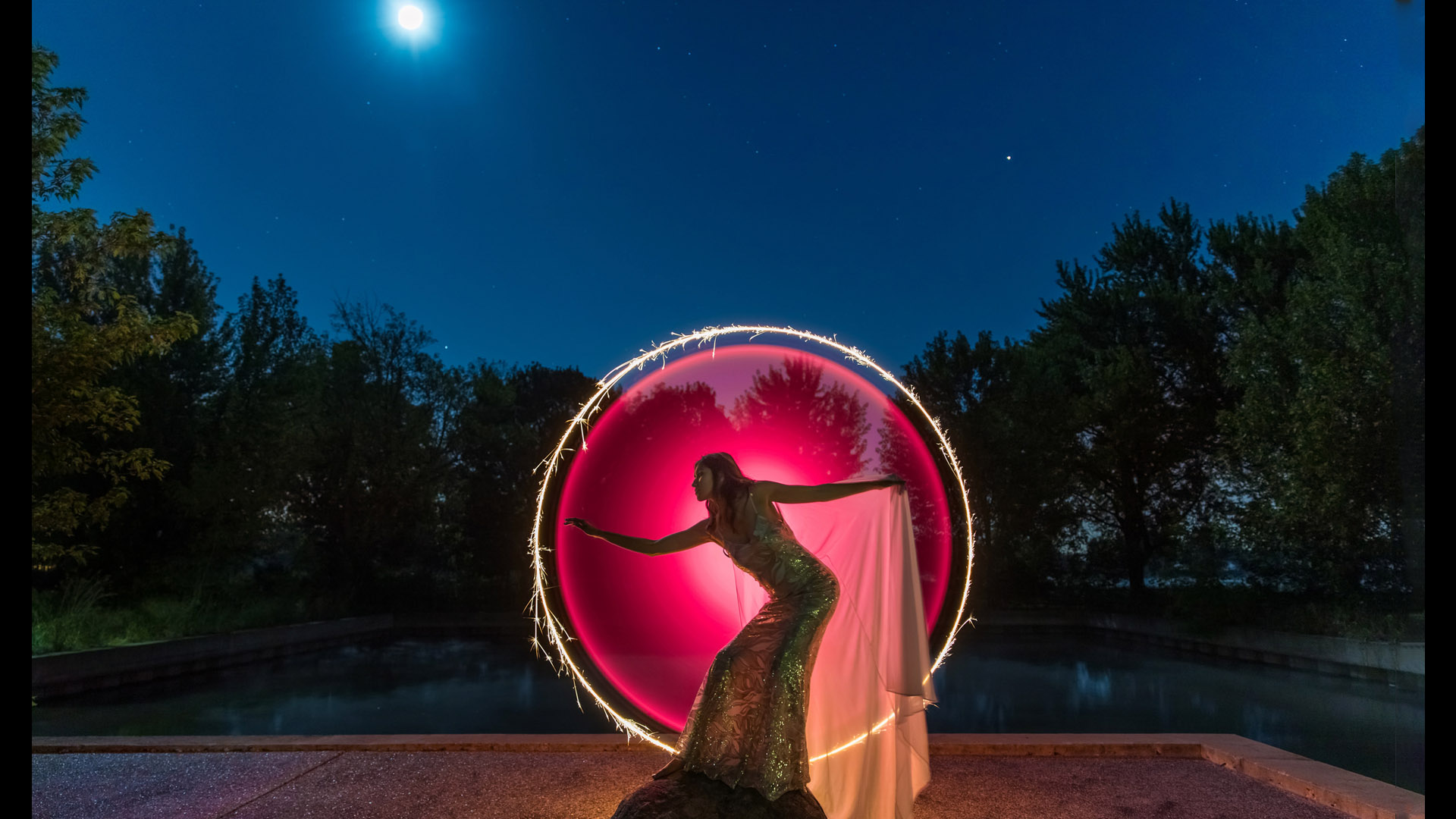 "Photographer of the Day Jeff Goldberg with ""Full Moon Glamour""."