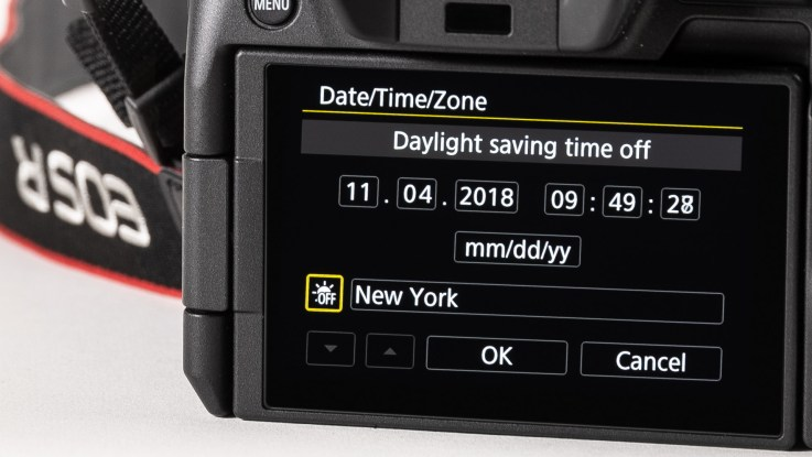 "Your camera needs to ""fall back"" to Standard time."