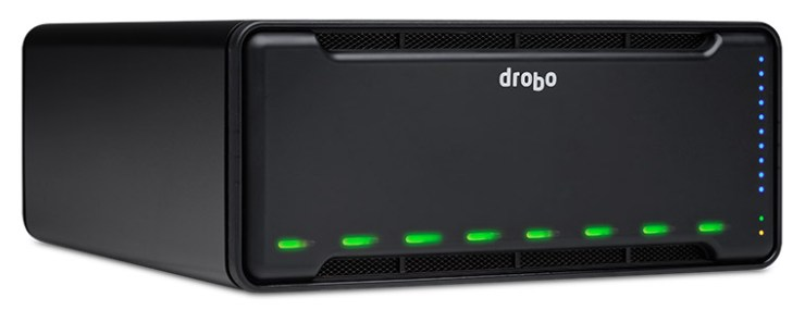 3/4 view of the new Drobo 8D.