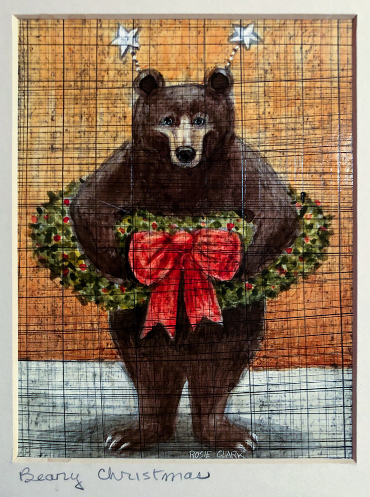 """Beary Christmas"" by Rosie Clark. Courtesy Kevin Ames"