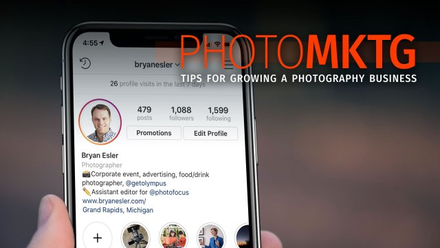 Photography Marketing: Using Instagram stories and highlights for a mini-portfolio