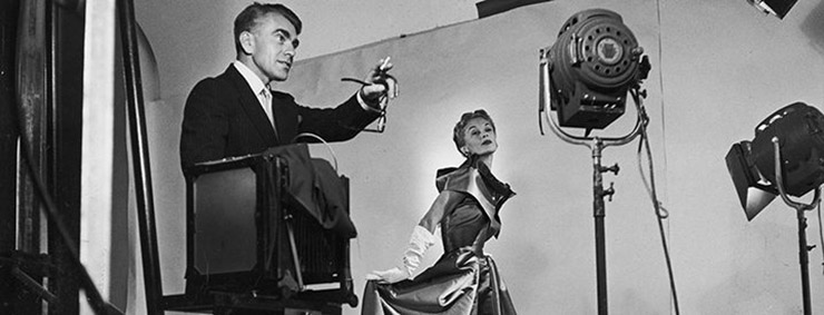 Horst P. Horst with a model