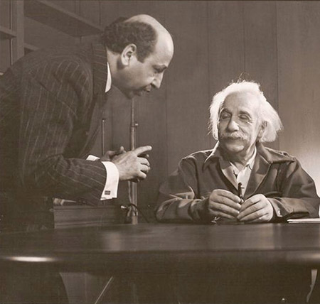 Yousuf Karsh with Albert Einstein 1948