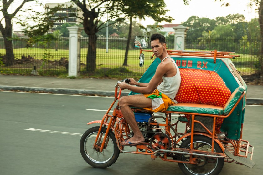 A jitney driver close to the U.S. Embassy in Manilla, Philippines