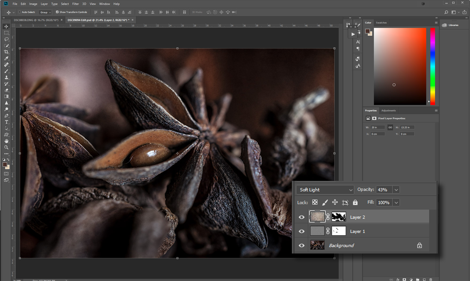 Using creative textures with still life photography