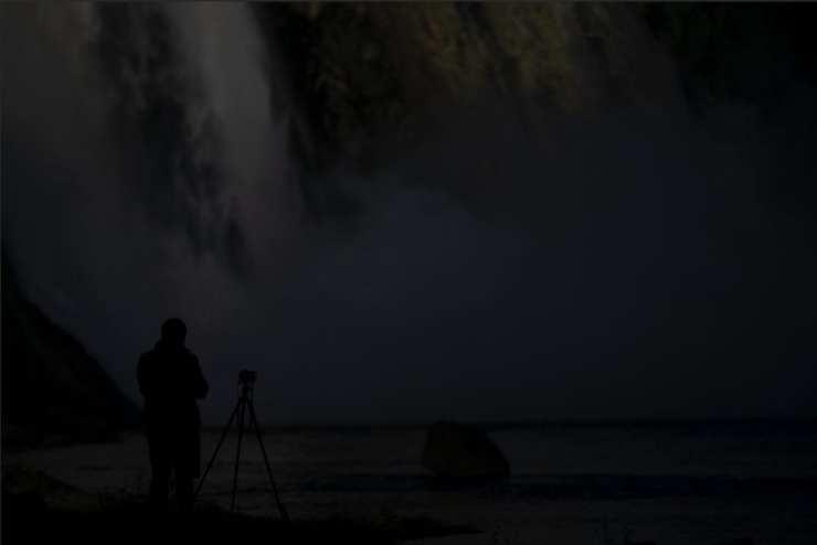 Underexposed image, waterfall