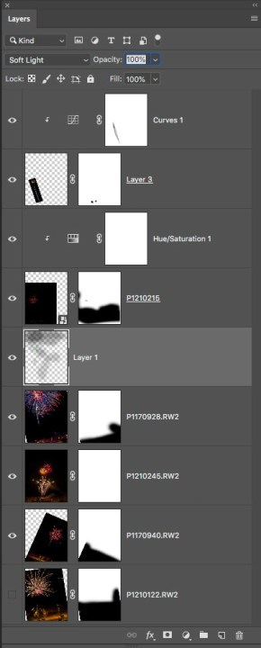 photoshop palette with fireworks bob coates image