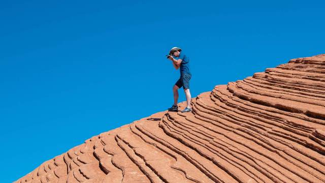 Creating visual dissonance in outdoor and travel photography