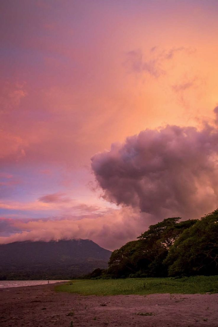 A fast-moving storm front over Lake Nicaragua lit up beautifully as the sun set. Ometepe, Nicaragua ISO 1250; 1/160 sec.; f/5.0; 18mm