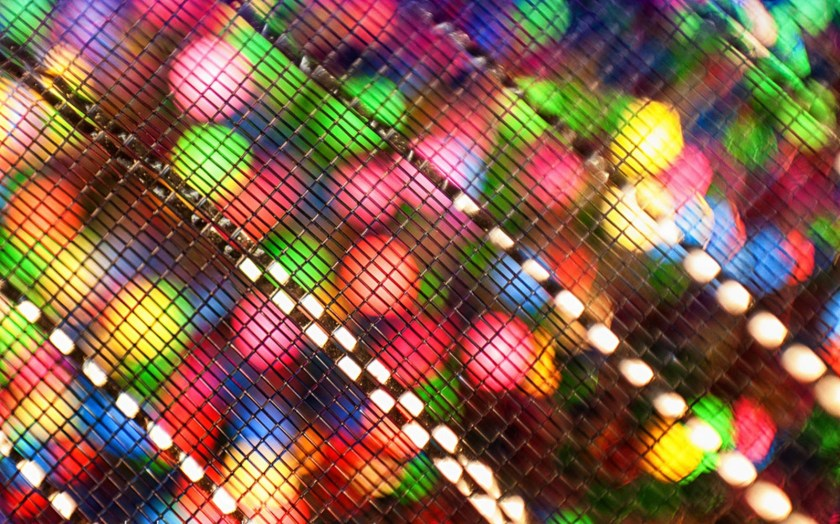 glitter paper with mesh ribbon
