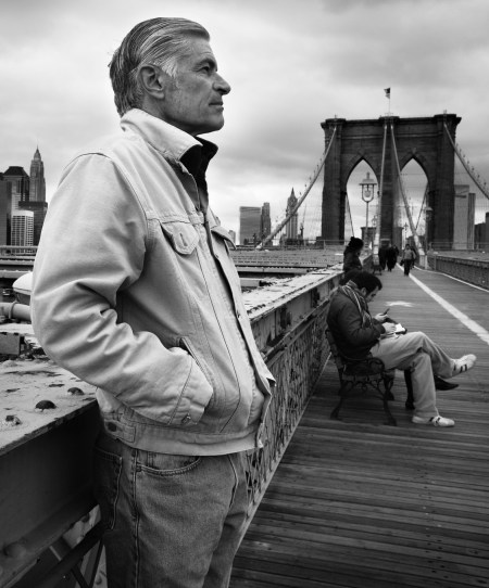 Photographer James Nachtwey on the Brooklyn Bridge
