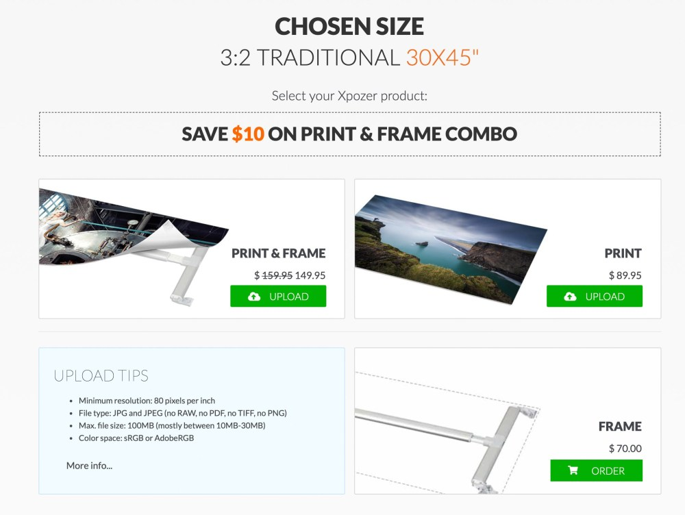 Choose Print & Frame
