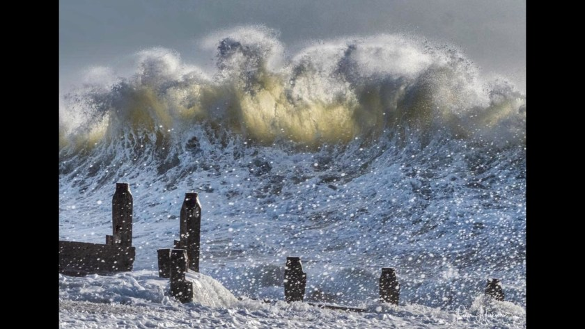 """""""Winter Waves"""" shows the power of nature on Haling Island earning Peter Hickson, kudos as the Photofocus Photographer of the Day."""