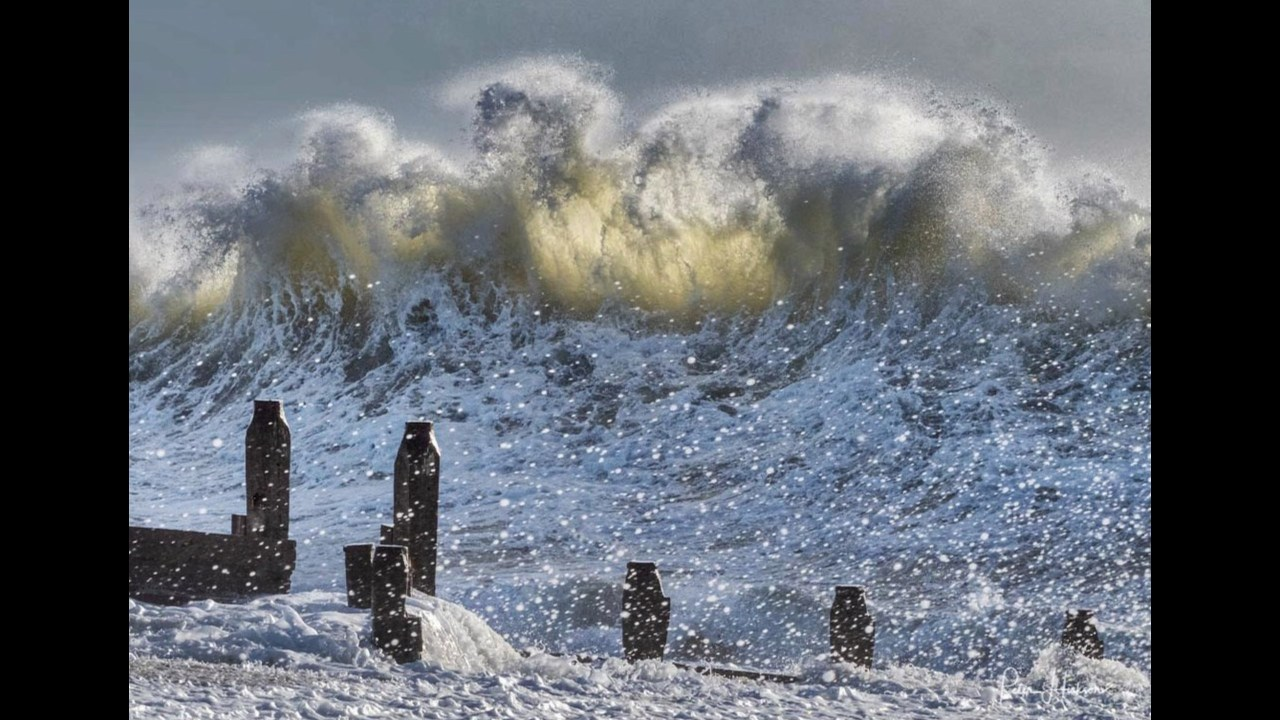 """Winter Waves"" shows the power of nature on Haling Island earning Peter Hickson, kudos as the Photofocus Photographer of the Day."