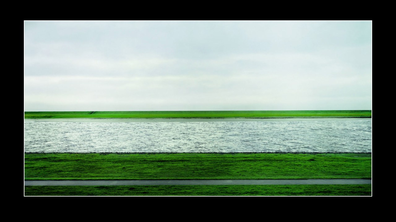Rhine II 1999 by Andreas Gursky