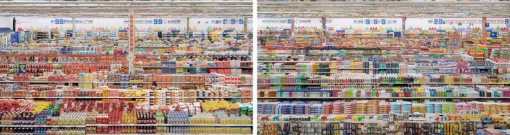 99 Cent II diptych by Andreas Gursky