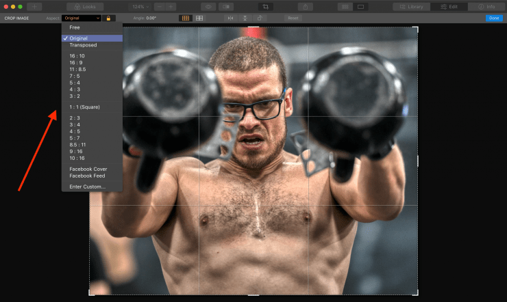 Photo crop ratio size for printing