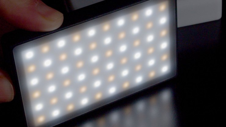 60 Bi-color LEDs on the Lume Cube Panel Mini