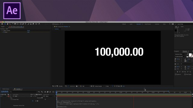 Express yourself with numbers: An After Effects tutorial