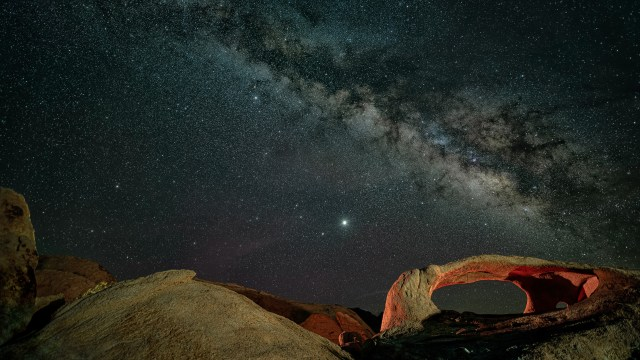 How I got the photo: Ojo Oro Arch Milky Way