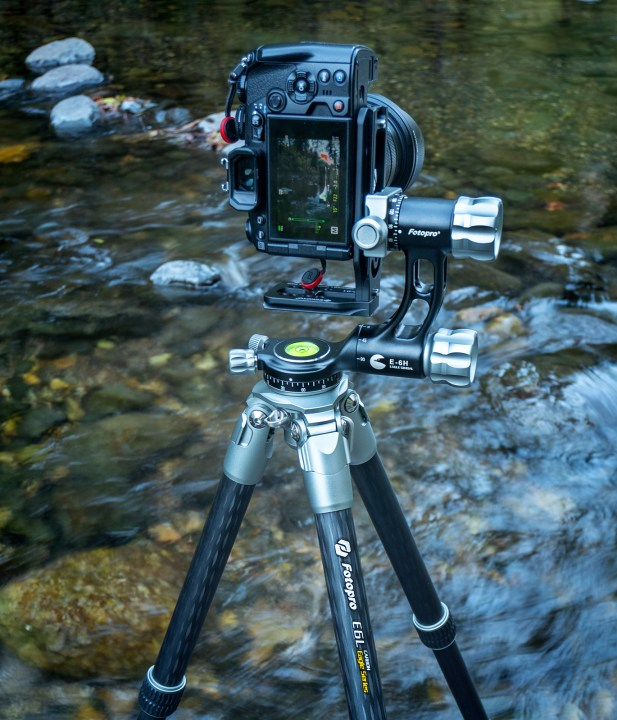 fotopro Tripod in creek