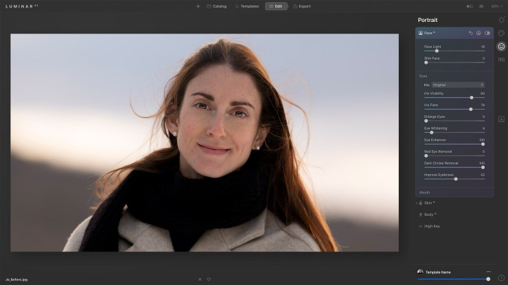 Portrait Luminar AI