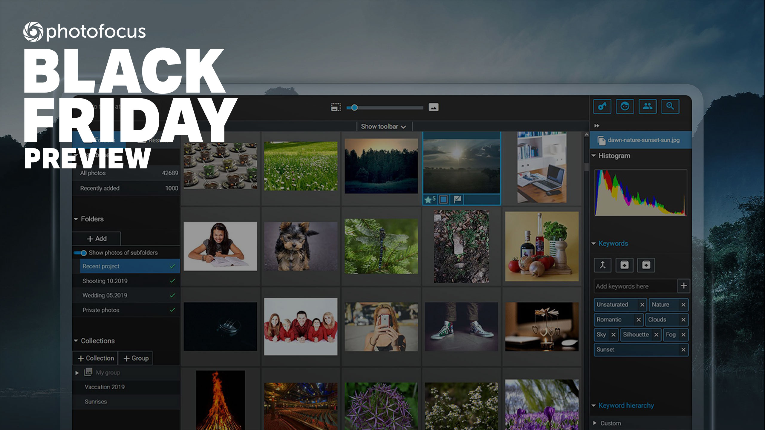 Manage, find and share your photos with Excire's Black Friday specials