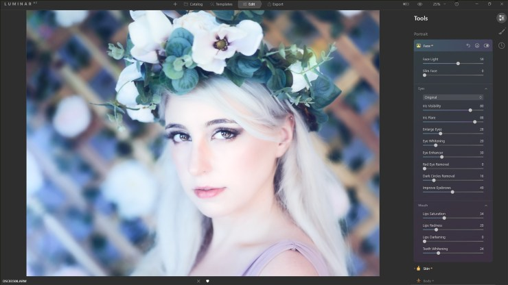 Create soft, romantic looks with Luminar<sup>AI</sup>